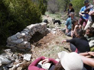 """Chantier participatif """"pierre sèche"""" @ 26560 Lachau"""